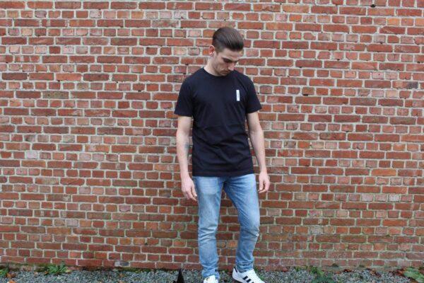zwarte shirt antwrp feestcollectie, gratis sokken