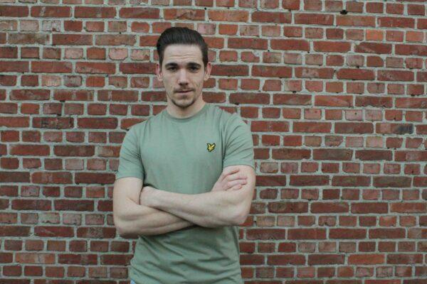 groen shirt lyle & scott, mannenkledij, mannenmode online, webshop, eagle logo