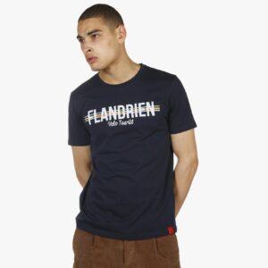 flandrienshirt, donkerblauwe shirt, belgische driekleur, ikkoopbelgisch, ikkooplokaal, flandrien