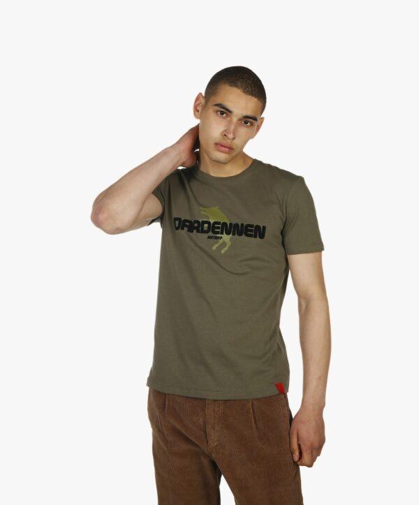 donkergroene dardennen shirt, Antwrp